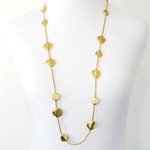 Vintage Anne Klein sweater necklace gold tone